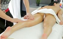 After the massage she received the long-awaited vaginal sex