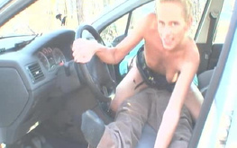 Driver picked up and nailed a lustful amateur blonde