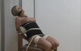 Perfect and tight bondage for a busty Amber Michaels